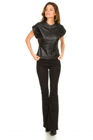 Ibana |  Leather top Tana | black  | Picture 4