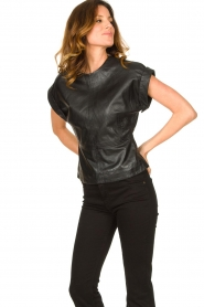 Ibana |  Leather top Tana | black  | Picture 5