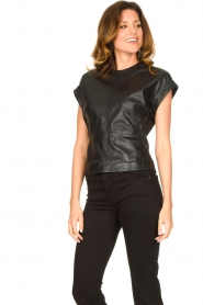 Ibana |  Leather top Tana | black  | Picture 2