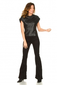 Ibana |  Leather top Tana | black  | Picture 3