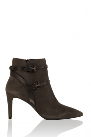 Leather ankle boots Fawn | Grey
