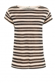 Linnen T-shirt Axil | naturel