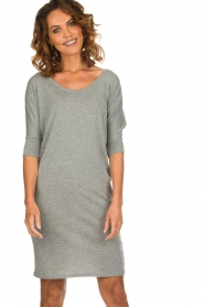 Blaumax |  Dress with waistband Mila | grey  | Picture 6