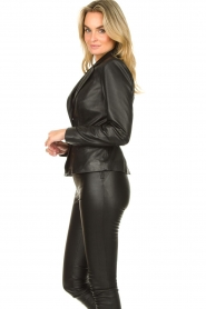 Ibana |  Belted leather blazer Jazlyn | black  | Picture 6
