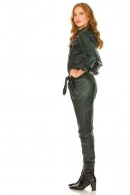 Ibana |  Leather jumpsuit Jolinde | dark green  | Picture 5