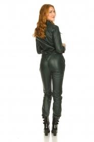 Ibana |  Leather jumpsuit Jolinde | dark green  | Picture 6
