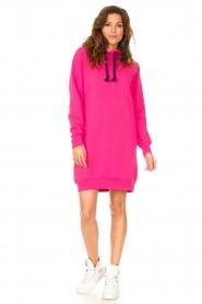 Blaumax |  Hooded sweater dress Harlem | pink  | Picture 3
