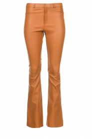 Ibana |  Leather flared pants Pearl | camel  | Picture 1