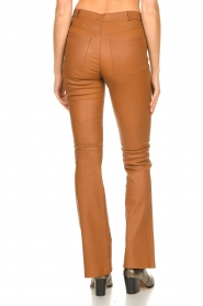 Ibana |  Leather flared pants Pearl | camel  | Picture 4