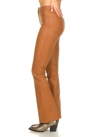Ibana |  Leather flared pants Pearl | camel  | Picture 5