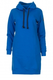 Blaumax |  Hooded sweater dress Harlem | blue  | Picture 1