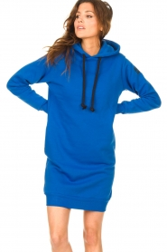 Blaumax |  Hooded sweater dress Harlem | blue  | Picture 5