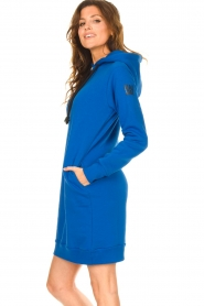 Blaumax |  Hooded sweater dress Harlem | blue  | Picture 6