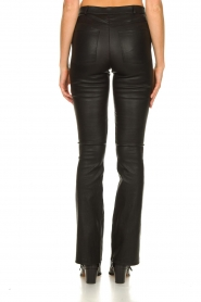 Ibana |  Leather flared pants Pearl | black  | Picture 6