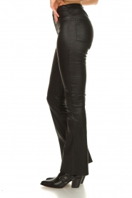 Ibana |  Leather flared pants Pearl | black  | Picture 5