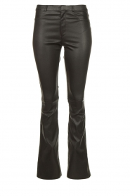 Ibana |  Leather flared pants Pearl | black  | Picture 1