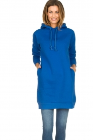 Blaumax |  Hooded dress Harlem | blue  | Picture 2