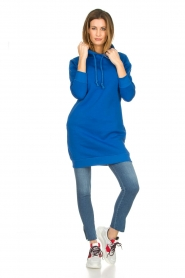 Blaumax |  Hooded dress Harlem | blue  | Picture 3