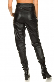Ibana |  Leather pants Paula | black  | Picture 6