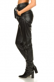 Ibana |  Leather pants Paula | black  | Picture 5