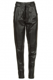 Ibana |  Leather pants Paula | black  | Picture 1