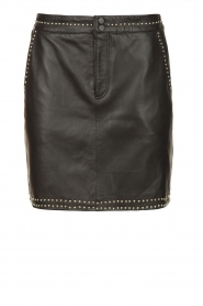 Ibana |  Studded leather skirt Sharon | black  | Picture 1