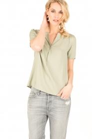 Knit-ted | Top Eef | groen  | Afbeelding 2