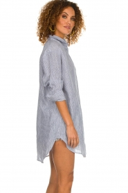Blaumax |  linen blouse with striped Marylou | blue  | Picture 5