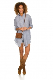 Blaumax |  linen blouse with striped Marylou | blue  | Picture 3