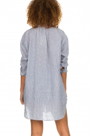 Blaumax |  linen blouse with striped Marylou | blue  | Picture 6
