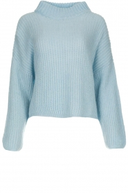 Be Pure |  Knitted turtleneck sweater Everly | blue  | Picture 1