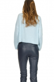 Be Pure |  Knitted turtleneck sweater Everly | blue  | Picture 5