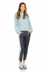 Be Pure |  Knitted turtleneck sweater Everly | blue  | Picture 3