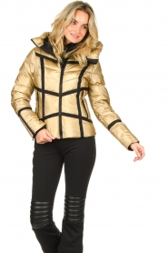 Goldbergh | Down jacket Mirror | gold  | Picture 4