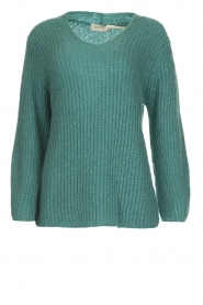 Be Pure |  Knitted sweater Stella | green  | Picture 1