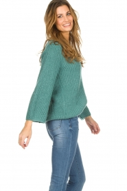 Be Pure |  Knitted sweater Stella | green  | Picture 4
