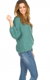 Be Pure |  Knitted sweater Stella | green  | Picture 5