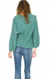 Be Pure |  Knitted sweater Stella | green  | Picture 6