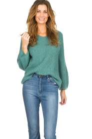 Be Pure |  Knitted sweater Stella | green  | Picture 2