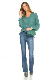 Be Pure |  Knitted sweater Stella | green  | Picture 3