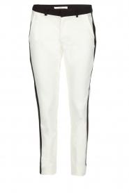 Aaiko | Pantalon Parini | zwartwit  | Afbeelding 1