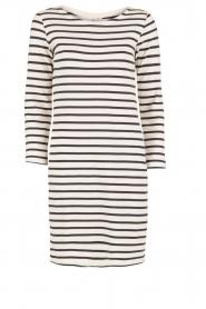 Knit-ted | Gestreepte jurk Brigitte | blauw/wit  | Afbeelding 1