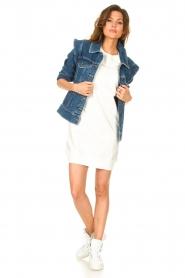 Blaumax | Sweater jurk Queens | wit  | Afbeelding 3