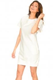 Blaumax | Sweater jurk Queens | wit  | Afbeelding 4
