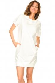 Blaumax | Sweater jurk Queens | wit  | Afbeelding 2