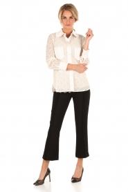 Tara Jarmon | Kanten blouse Jaela | wit  | Afbeelding 3