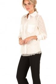 Tara Jarmon | Kanten blouse Jaela | wit  | Afbeelding 4