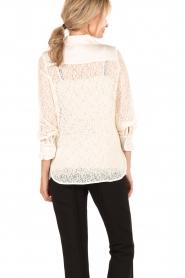 Tara Jarmon | Kanten blouse Jaela | wit  | Afbeelding 5