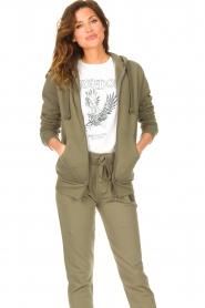 Blaumax |  Hooded cardigan Harlem | green  | Picture 4