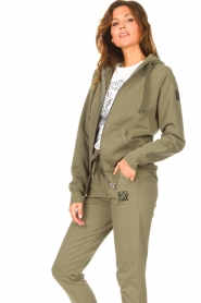 Blaumax |  Hooded cardigan Harlem | green  | Picture 5